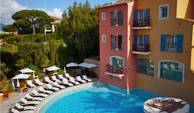 Hotel Byblos Pool St. Tropez French Riviera, about.com